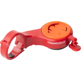 CloseTheGap Hide My Bell Handlebar Mount with integrated Bell Mini red